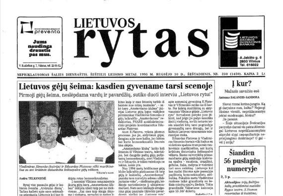 LGL nuotr./Pirmosios atsiskleidimo istorijos spaudoje