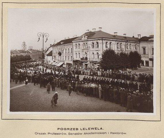 Viešo naudojimo nuotr./Joachimo Lelevelio laidotuvės Vilniuje