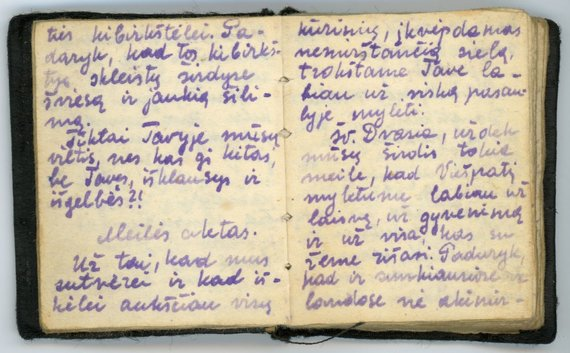 """Maldaknygės """"Viešpatie, prikelk mano tautą"""" rankraščio faksimilė. Magadanas, 1950 m."""