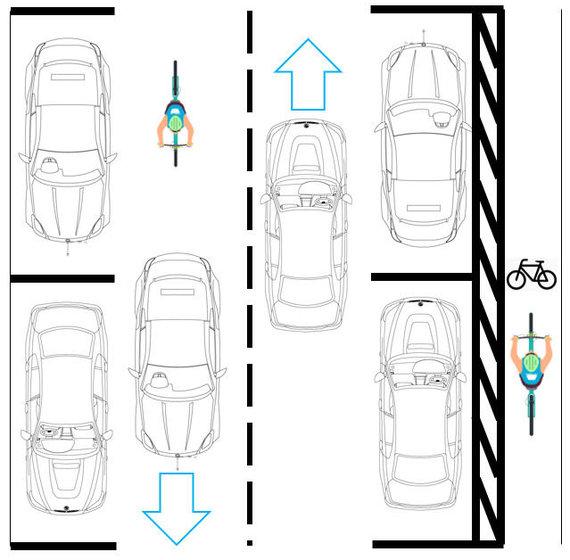 Vilniaus m. savivaldybės nuotr./Naugarduko g. bus įrengtas dviračių takas