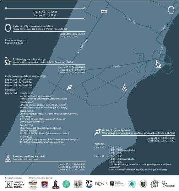 Organizatorių nuotr./Renginio žemėlapis su programa