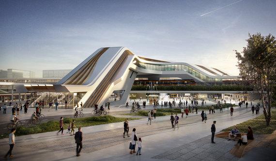 Projekto vizualizacija/Ülemiste terminalas Taline
