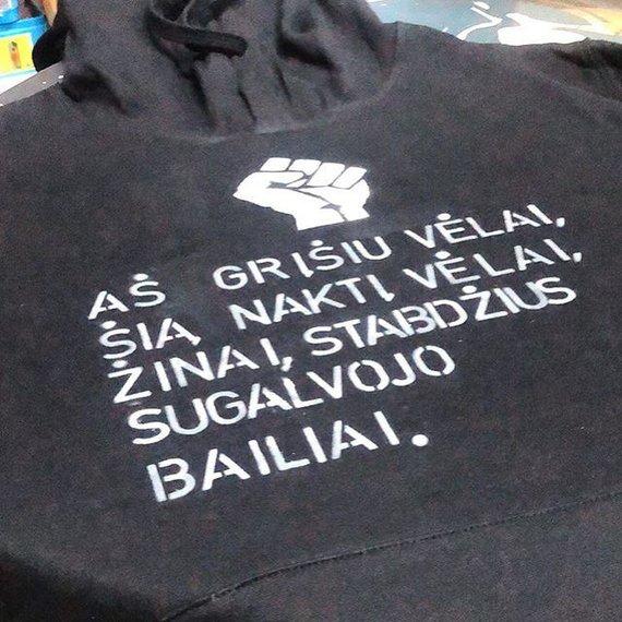Asmeninio albumo nuotr./Gabrieliaus Liaudansko-Svaro dekoruotas džemperis