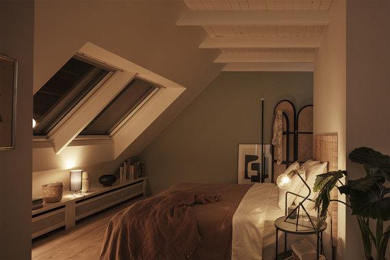 VELUX/VELUX išorinės žaliuzės užtikrina malonią patalpų temperatūrą ir omtimaliai blokuoja šviesą net kaitriausiomis dienomis