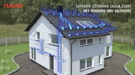 """""""Ruukki Products"""" AS archyvo medžiaga /Nauji """"Ruukki SafeGrip"""" stogo saugos elementai užtikrina 100% geresnį sukibimą net ir drėgnu oru, šąlant"""