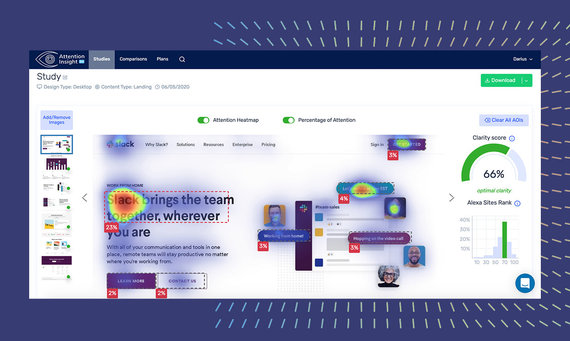 Ainsight product screens