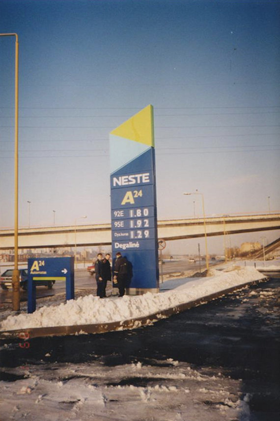 At the opening of the Jonava petrol station 1999 January 15