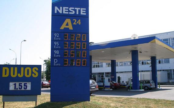 """""""Neste"""" petrol station in 2006 m. (Lina Petrauskienė photo ELTA)"""
