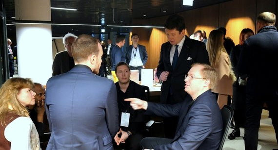 During a conference organised by Blockchain Centre, Vilnius. During a conference organised by Blockchain Centre, Vilnius