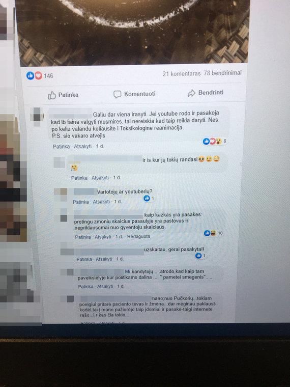 """Facebook"" nuotr./Medikės įrašas feisbuke"