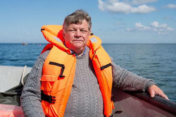 Vakarų ekspreso nuotr./Priekrantės verslinės ir rekreacinės žuvininkystės asociacijos vadovas Mindaugas Rimeikis.