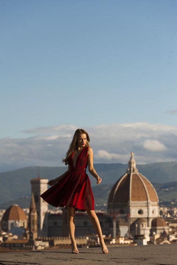 Sandros AP nuotr./Gabrielės Gineikaitės fotosesija Italijoje