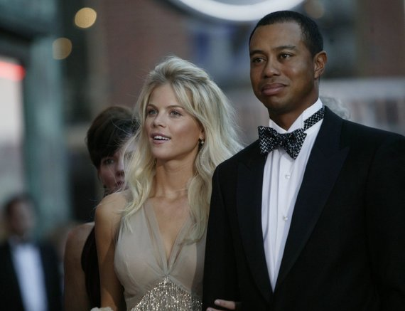 Vida Press nuotr./Tigeris Woodsas ir Elin Nordegren