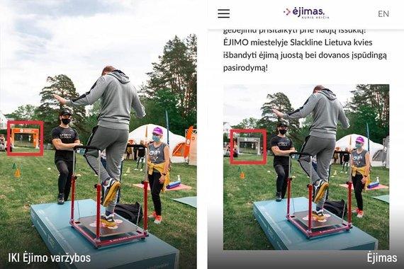 """Asmeninio albumo nuotr./Vlada Musvydaitė atkreipė dėmesį į renginių """"IKI Ėjimo varžybos"""" ir """"Ėjimas"""" nuotraukų panašumą"""