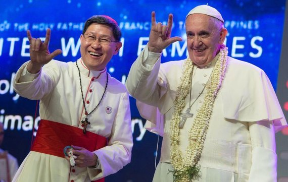 """""""Scanpix""""/AP nuotr./Popiežius Pranciškus lankosi Filipinuose, 2015 m."""