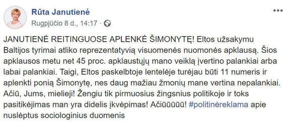 15min nuotr./R.Janutienės įrašas feisbuke