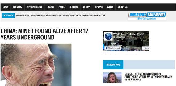 15min nuotr./worldnewsdailyreport.com publikacija