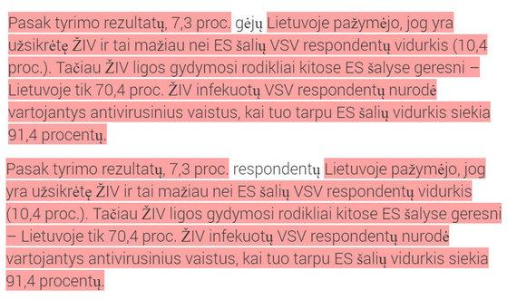 15min nuotr./Bukimevieningi.lt publikuotas tekstas (viršuje) ir ULAC pranešimas spaudai (apačioje)