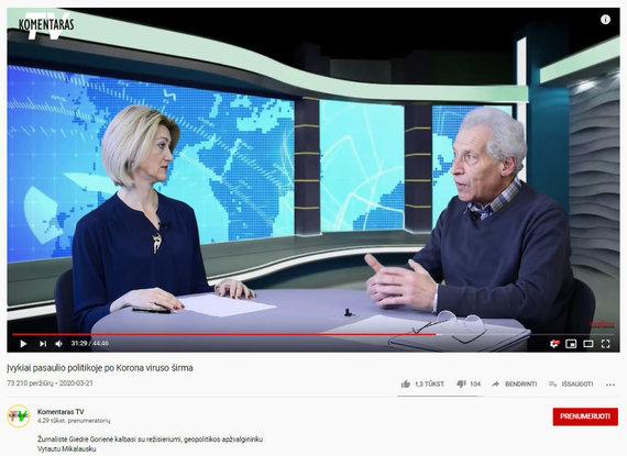 15min nuotr./Sąmokslo teorijas skelbiantis vaizdo įrašas