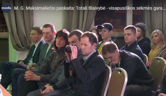 15min nuotr./M.Puidokas (kairėje) lankosi M.Gabrilavičiaus renginyje, 2019 m. balandis