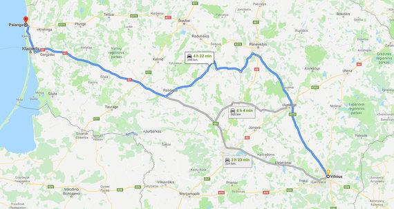 Maršrutas pro Panevėžį