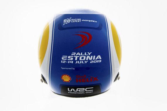 """Organizatorių nuotr./""""Rally Estonia"""" nugalėtojo šalmas"""
