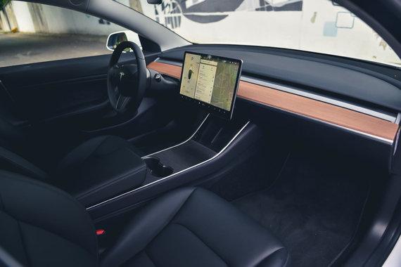 "Vytauto Pilkausko nuotr./""Tesla Model 3"""