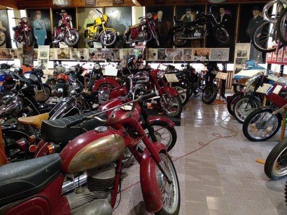 Nodum.lt nuotr./Itin senų ČZ motociklų šiame muziejuje taip pat netrūksta.
