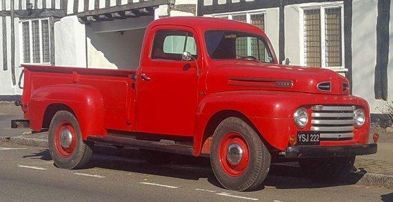 1949-ųjų Ford F-3. (Vauxford, Wikimedia(CC BY-SA 4.0)