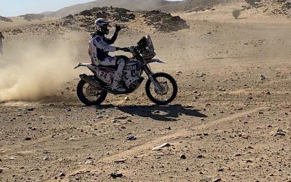 iGo2Dakar nuotr./Arūnas Gelažninkas pirmajame Dakaro greičio ruože