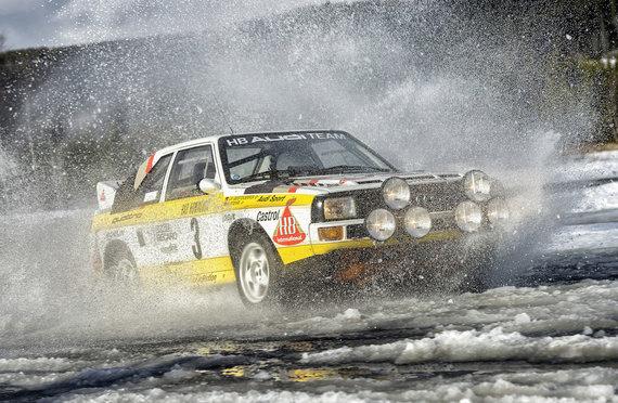"""Gamintojų nuotr./ 1984 m. legendinis švedų lenktynininkas Stigas Blomquistas iškovojo pasaulio ralio čempiono titulą ir kartu užtikrino """"Audi"""" pergalę tarp automobilių gamintojų."""