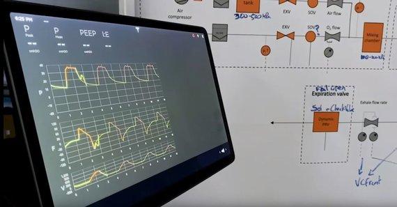 """YouTube nuotr./""""Tesla"""" parodė sukurto plaučių ventiliatoriaus prototipą"""