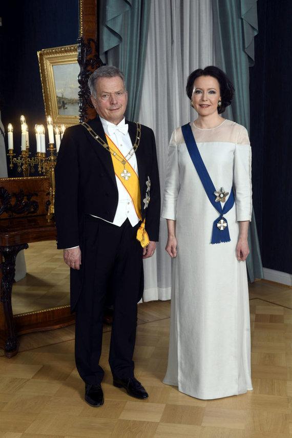 """""""Reuters""""/""""Scanpix"""" nuotr./Suomijos prezidentas Sauli Niinisto ir jo žmona Jenni Haukio"""