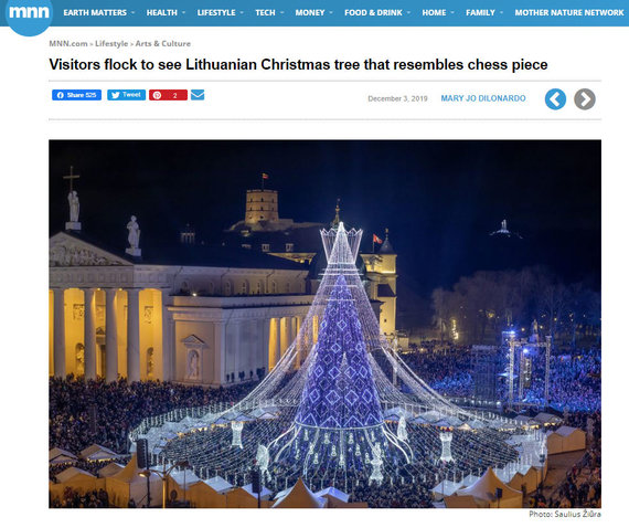 """15min nuotr./""""Mother Nature Network"""" dėmesys Vilniaus Kalėdų eglei"""