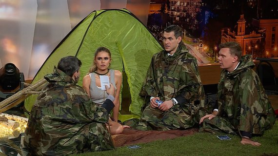 """TV3 nuotr./Laidos """"Gero vakaro šou"""" filmavimo akimirkos"""