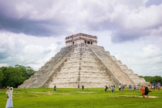 Shutterstock nuotr./Kukulkano piramidė, Čičen Ica, Meksika