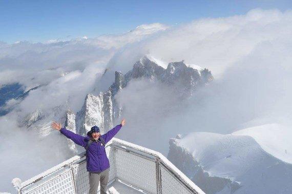 Asmeninio albumo nuotr./Silvija Martinkutė-Plentė ant Monblano kalno Prancūzijoje