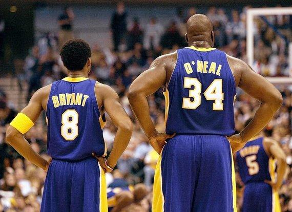 """""""Scanpix"""" nuotr./Kobe Bryantas ir Shaquille'as O'Nealas"""