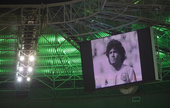 """Scanpix"" nuotr./Menchengladbache atiduota pagarba Diego Maradonai"