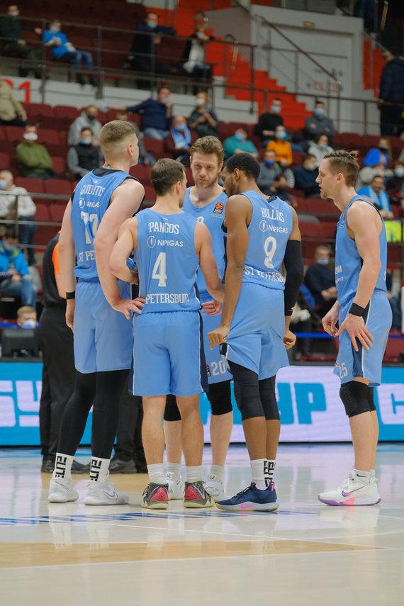 "Getty Images/Euroleague.net nuotr./Eurolyga. Sankt Peterburgo ""Zenit"" – Kauno ""Žalgiris"""