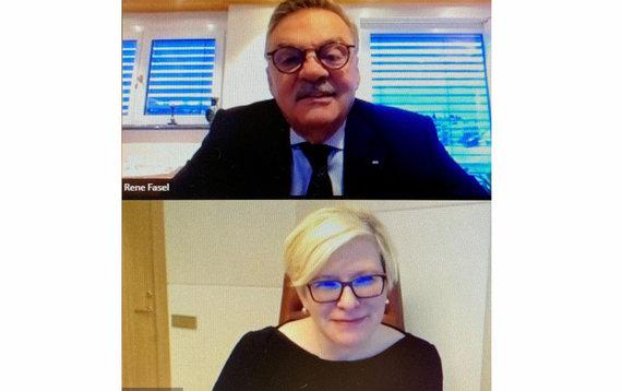 lrv.lt nuotr./Ingrida Šimonytė su IIHF prezidentu aptarė galimybes rengti pasaulio čempionatą Lietuvoje
