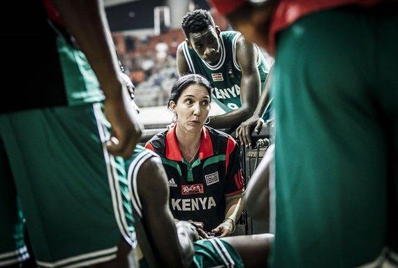 FIBA nuotr./Kenijos vyrų krepšinio rinktinės trenerė Liz Mills