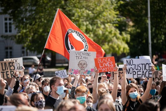 D.Umbraso nuotr./Black Live Matters protestas Vilniuje