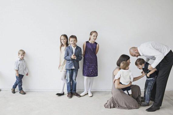Raimondos Vyšnios nuotr./Salinių šeima. Nuotraukoje trūksta jauniausios narės Marijos