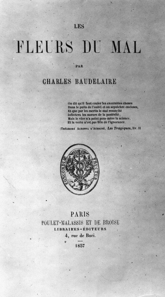 """""""Scanpix"""" nuotr./Charles'io Baudelaire'o """"Piktybės gėlės"""""""