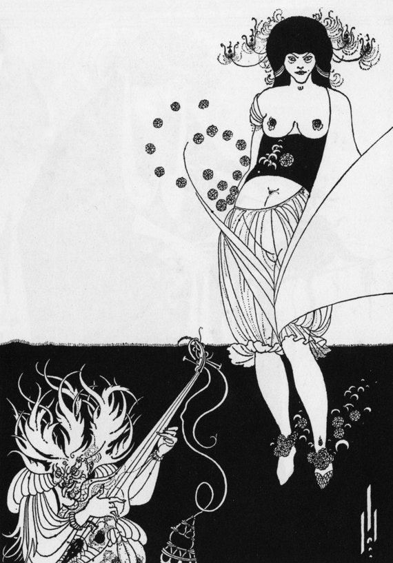 """Scanpix"" nuotr./""The Stomach dance"" (liet. ""Pilvo šokis""), Aubrey Beardsley, 1893 metai"