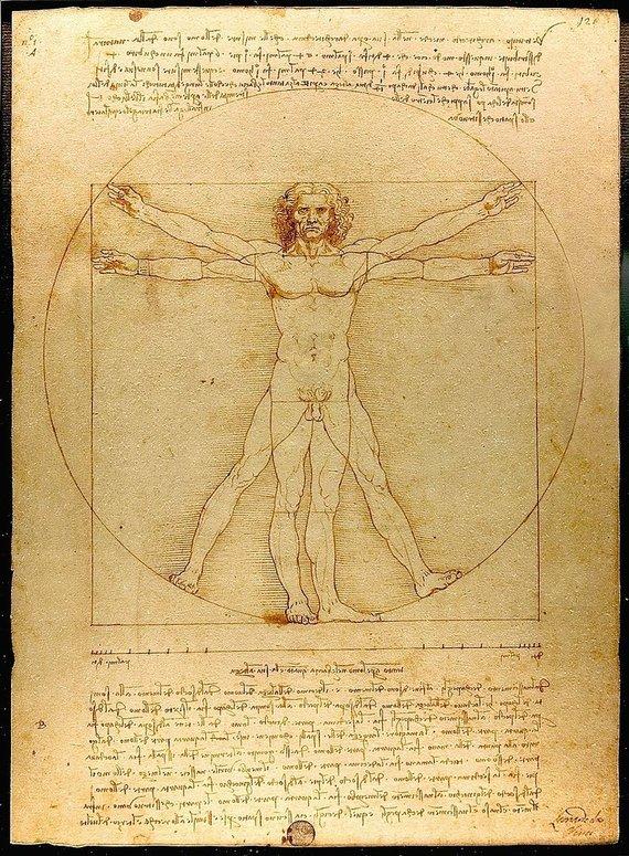 "Luco Viatouro nuotr./ Wikipedia.org nuotr./Leonardo Da Vincio ""Vitruvijaus kūnas"""