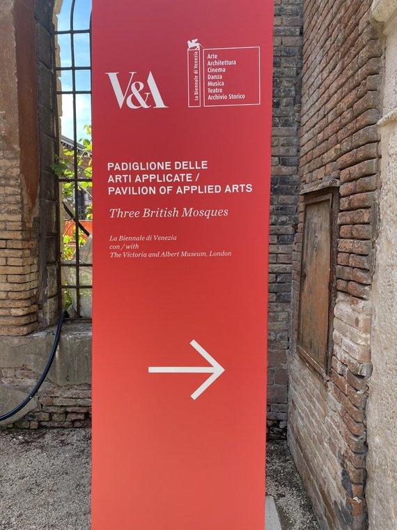 """Tado Grabio nuotr./ 15min nuotr./Penktąjį kartą organizuojamas bendras Venecijos bienalės bei Viktorijos ir Alberto muziejaus arsenalas """"Three British Mosques"""" 2021 m. Gegužės 21 d."""