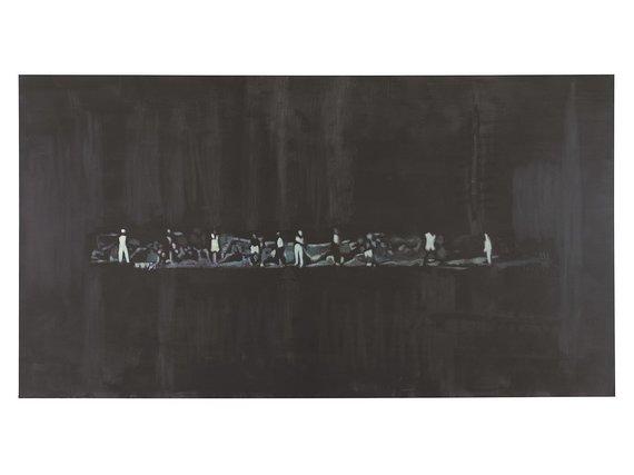 """Tate Modern muziejaus kolekcija/ Wikipedia.org nuotr./Luco Tuymanso """"The Shore"""", 2014 m., aliejus and drobės, 194.2×353.7 cm, Londonas"""
