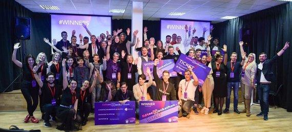 """""""Edtech Hackathon 2019"""" apdovanojimai / organizatorių nuotr."""